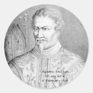 Agostino Steffani Ronde Sticker