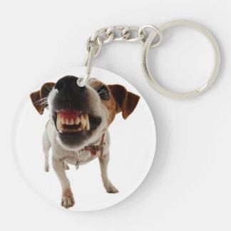 Agressieve hond - boze hond - grappige hond sleutelhanger