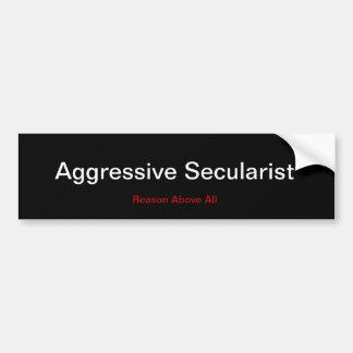Agressieve Secularist Bumpersticker