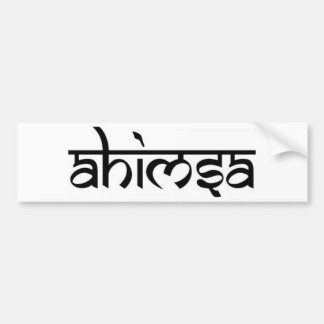 Ahimsa - अहिंसा - Boeddhistisch Principe Bumpersticker