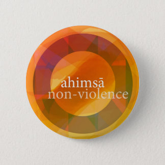 ahimsā - non-violence ronde button 5,7 cm
