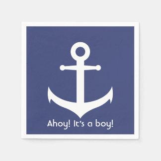 Ahoy! Het is een Jongen! De zeevaart Servetten van Wegwerp Servetten