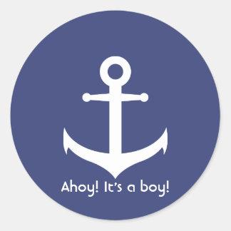 Ahoy! Het is een Jongen! De zeevaart Sticker van