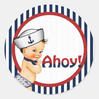 Ahoy het is een Sticker van het Baby shower van de