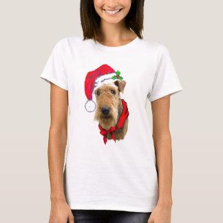Airedale in het Pet van de Kerstman T Shirt