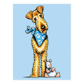 Airedale Terrier en Puppy Briefkaart