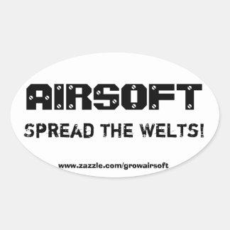 """Airsoft de Sticker van de Bumper """"spreidde van de"""