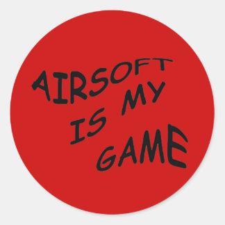 AIRSOFT IS MIJN Stickers van het SPEL