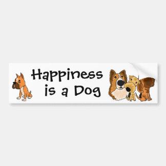 AJ- Geluk is een Sticker van de Bumper van de Hond