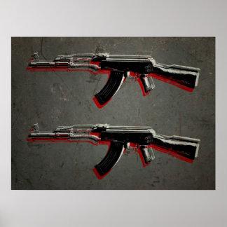 AK47 het Pop-art van het Geweer van de aanval Poster
