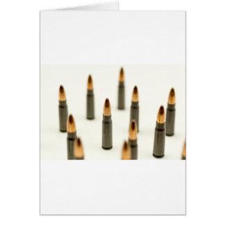 Ak-47 de Patroon 7.62x39 van de Kogel van munitie Briefkaarten 0