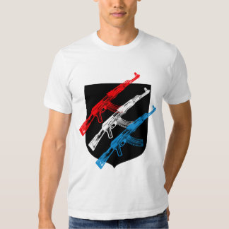 AK 47, Rood, Wit en Blauw Shirt