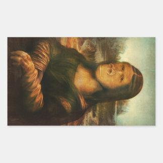 Aka Mona Lisa van Mona Rilla Rechthoekige Sticker