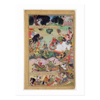 Akbar die de trommels en normen gevangen F Briefkaart