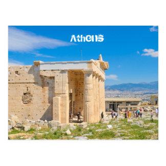 Akropolis in Athene, Griekenland Briefkaart