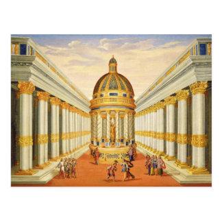 Akte I, scènes VII en VIII: De Tempel van Baccus Briefkaart