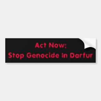 Akte nu: De Volkerenmoord van het einde in Darfur Bumpersticker