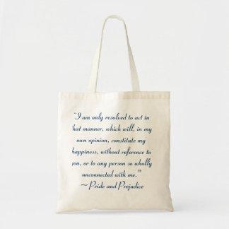 Akte op Manier om Geluk Jane Austen te vormen Draagtas