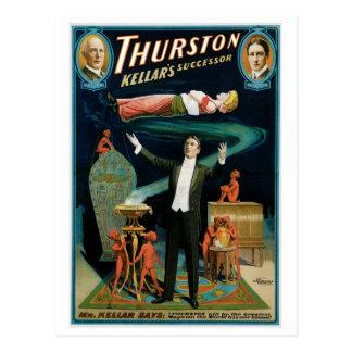 Akte van de Opvolger van Thurston ~ Kellar het Briefkaart