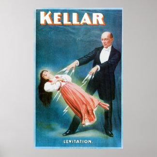 Akte van de Tovenaar van de Levitatie van Kellar ~ Poster
