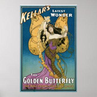Akte van de Vlinder van ~ van Kellar het Gouden Poster