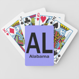 AL Alabama duidelijke zwarte Kaartspel