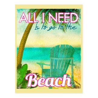 Al Behoefte van I moet naar het Strand Gaan Briefkaart