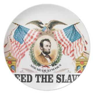 AL bevrijdde de slaven Bord