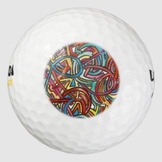 Al daar-Hand van het Eind van Wegen schilderde Golfballen