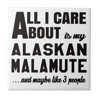 Al Izorg ongeveer is mijn Malamute. Van Alaska Tegeltje