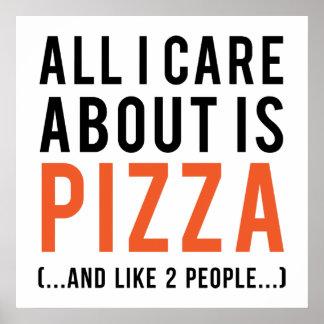 Al Izorg ongeveer is pizza (en als 2 mensen) Poster