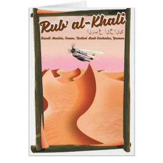 Al Khali Saudi-Arabië van Rub vakantieaffiche Briefkaarten 0