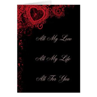 Al Mijn Liefde, Al Mijn Leven, allen voor u Wenskaart