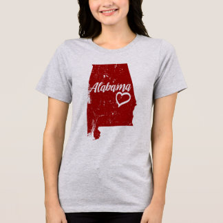 AL van Alabama de Verontruste Vintage t-shirt van