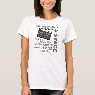 Al Wereld is een Stadium (vrouwen) T Shirt
