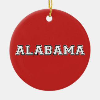 Alabama Rond Keramisch Ornament