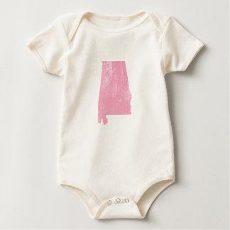 Alabama - Roze Vintage Grunge Baby Shirt