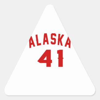 Alaska 41 Design van de Verjaardag Driehoek Stickers