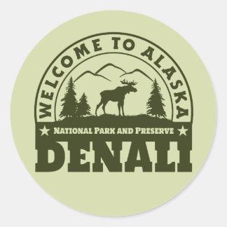 Alaska. Het het Nationale Park en Domein van Ronde Sticker