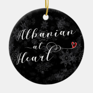 Albanees bij Hart, het Ornament van de Kerstboom