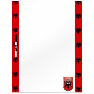 Albanese strepenvlag whiteboard