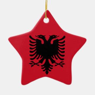 Albanese Vlag op de Ceramische Tegenhanger van de Keramisch Ster Ornament