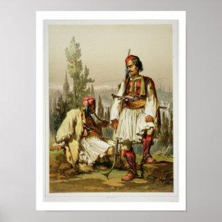 Albanezen, huurlingen in het leger van de Ottomane Poster