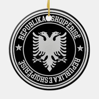 Albanië om Embleem Rond Keramisch Ornament