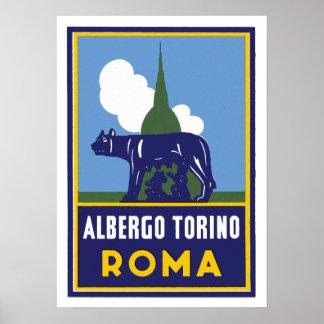 Albergo Turijn Rome Poster