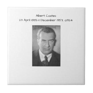 Albert Coates c1924 Keramisch Tegeltje