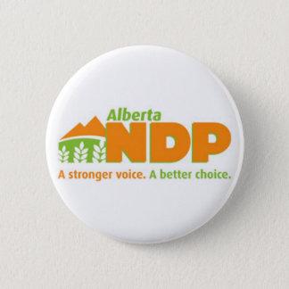 Alberta NDP een Sterkere Stem een Beter Logo van Ronde Button 5,7 Cm