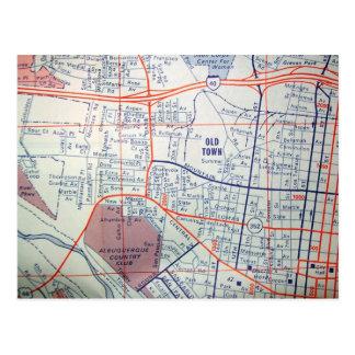 ALBUQUERQUE, Briefkaart van de Kaart van NM het