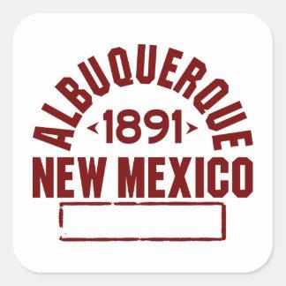 Albuquerque N.v. Vierkante Sticker