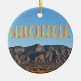 Albuquerque New Mexico Rond Keramisch Ornament